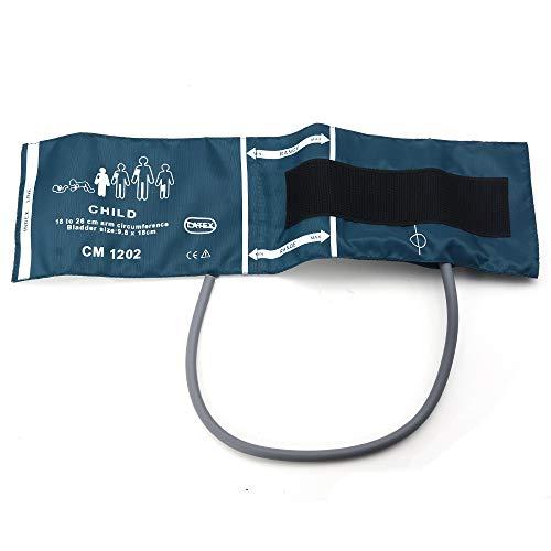 Huapa Pressure Single Tube Cuff Neonatal/Infant/Child/Adult/Veterinary Blood Pressure Cuff for Patient Monitor Pressure Cuff(Child)