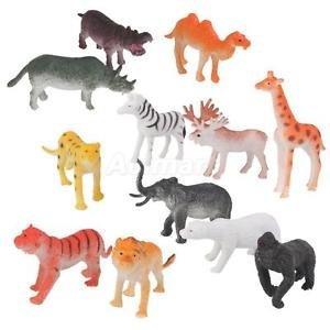 SVACT 8 pcs Set Wild Animal (Multi Color)