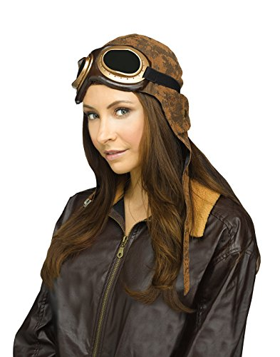 Aviator Hat With Goggles (Fun World Aviator Cap with Goggles-Standard)