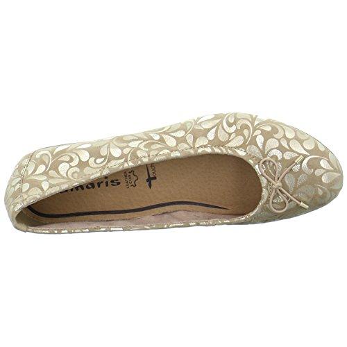Tamaris 1-1-22189-28-496 - Bailarinas para mujer dorado dorado 37 dorado