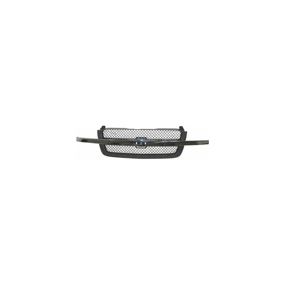 03 05 CHEVY CHEVROLET SILVERADO PICKUP GRILLE TRUCK, Textured, Bright & Paint to match, w/ Smooth Frame and Chrome Mldg., Base/LS/LT Model (2003 03 2004 04 2005 05) C070127 15120575