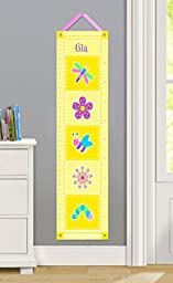 Olive Kids Personalized Flowerland Canvas Growth Chart