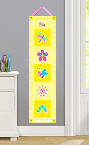 Olive Kids Personalized Flowerland Canvas Growth Chart by Olive Kids