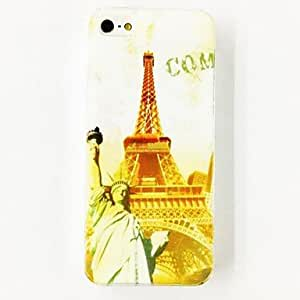 Buy Paris Eiffel Tower Status Of Freedom Pattern TPU Soft Case for iPhone 4/4S , Multicolor