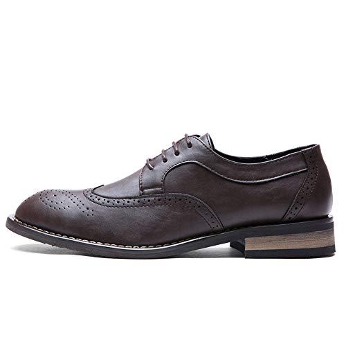 Tamaño Charol Color Hombres De En Los Tallados Eu estilo Cuero Cómodos Clásicos Británico Marrón 41 Negro Oxford Opcional Negocios Zapatos Vestir Formales Estilo PH4qP