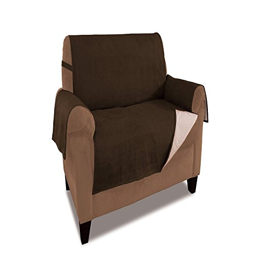 Furniture Fresh New And Improved Anti Slip Grip Furniture Protector With  Stay Put Straps And Water Resistant Microsuede Fabric (Chair, Chocolate)