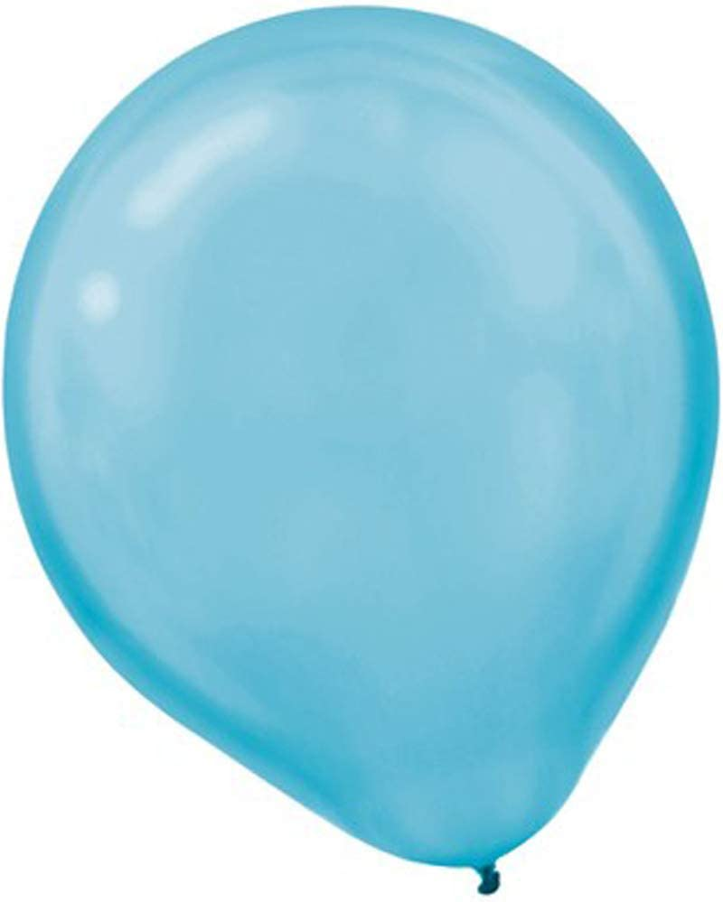 Pearl Latex Balloons | Carribbean Blue | Pack of 15 | Party Decor
