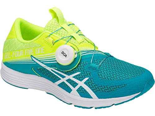 Running Shoes 750 (ASICS Women's GEL-451 Running Shoe - Color: Flash Yellow/Lagoon (Regular Width) - Size: 9)