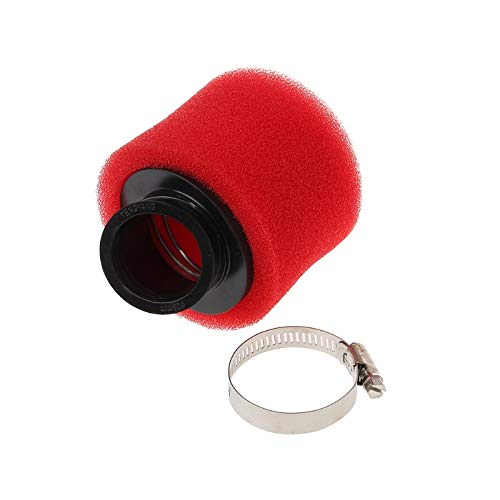 Transport-Accessories - 38mm Red Bent Angled Foam Air Filter Pod 110 125cc PIT Quad Dirt Bike ATV Buggy 45 Degree Air Filters Pod Cleaner