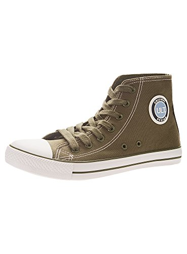 oodji Ultra Women's High Top Cotton Canvas Shoes Green (6910B) IzZhgvN5e