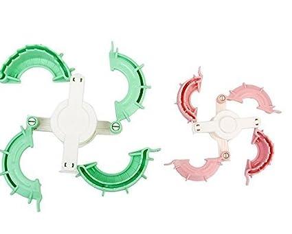 Hilai - Juego de 2 moldes para hacer pompones en forma de corazón (4 cm