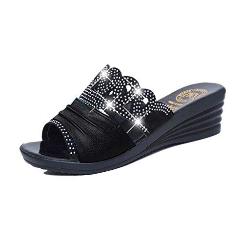 BOOWJESSSA - Zapatillas de estar por casa de Material Sintético para mujer negro