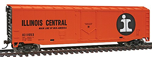 WalthersTrainline Ready to Run Illinois Central Door Boxcar, 50'/Large, Orange/Black