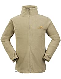 Men's Classic Soft Fleece Warm Outwear Sports Outdoor Zip Jacket Coat