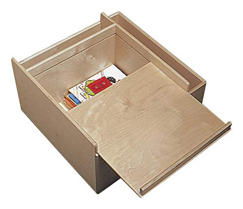 - Childcraft 071921 Mobile Listening and Storage Center, Birch Veneer, UV Acrylic, 23-3/8