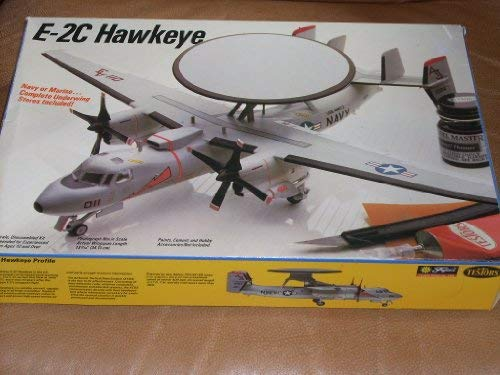 Vintage (1972-73) Model Kit Grumman E-2C Hawkeye Special Edition USS Nimitz (VAW-124) USS Saratoga (VAW-123) carrying 2 pilots and an Airborne Tactical Data System (ATDS). 1/72 Scale. Navy or Marine ... Complete Underwing Stores Included! Actual Wingspan Length: 13 7/16