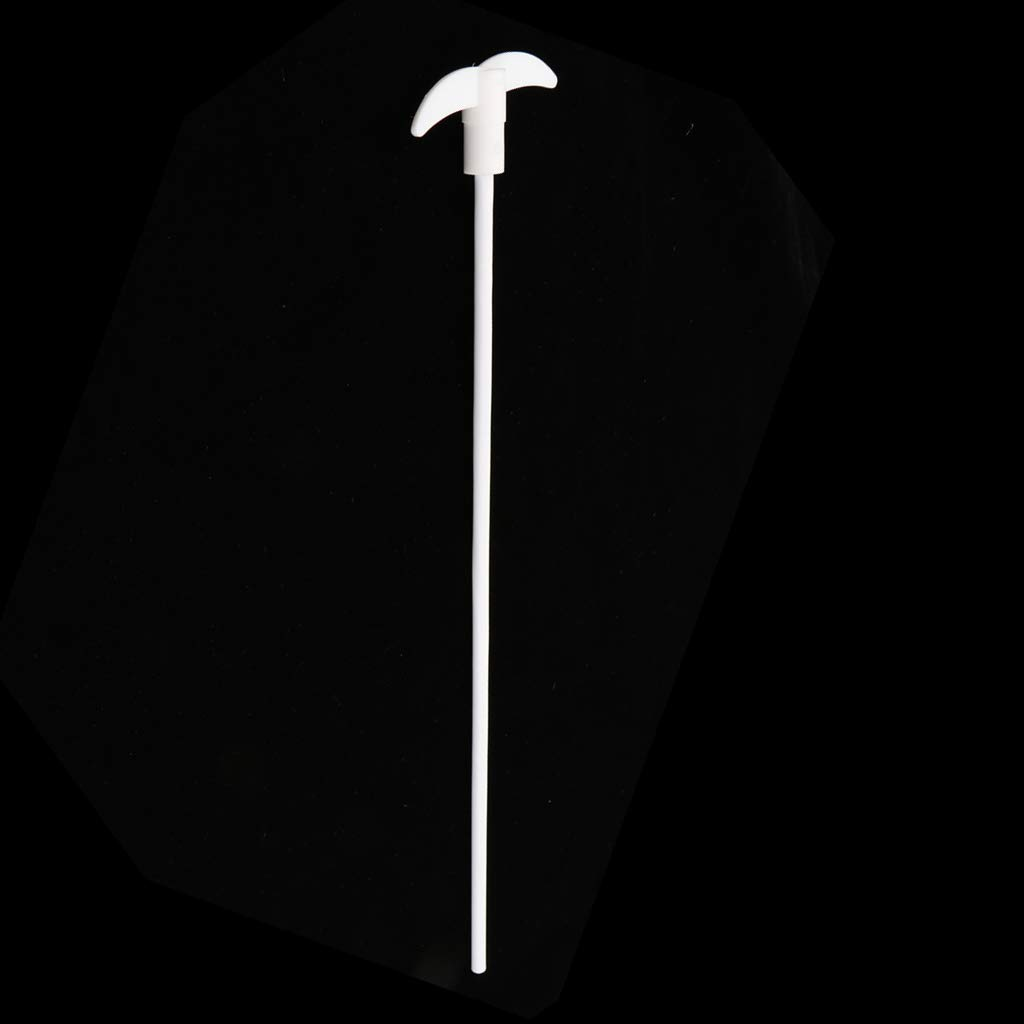 400 mm PTFE Stirring Rod Overhead Stirrer Mixer Shaft w// 80 mm Dia Foldable Paddle Lab Flask Utensils Accs