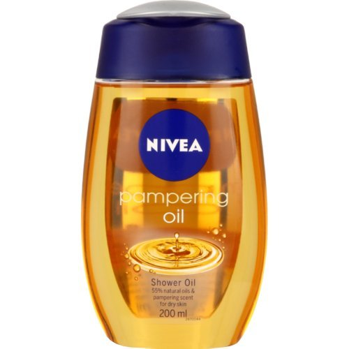 Genuine Authentic German Nivea Natural Oil Shower Oil Duschl - 6.76 Fl. Oz / 200ml - Imported From Germany by Nivea