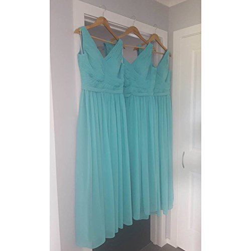 Bridesmaid Gown JAEDEN Dress Long Party Fuchsia Chiffon V Prom Neck for Evening 5p8Awqp