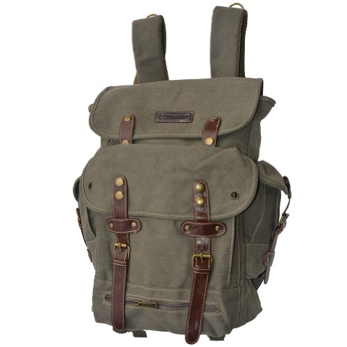 Eurosport World War II Military Style Olive Green Color Backpack – Hot retro style, Outdoor Stuffs