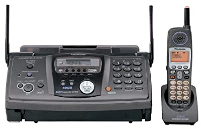 Panasonic KX-FG6550 2-Line, Plain Paper Fax/Copier with Expandable 5.8 GHz FHSS GigaRange® Cordless Phone System with Digital Answering System