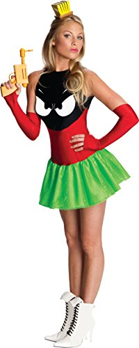 Adult Marvin The Martian Costumes (Secret Wishes Marvin The Martian Woman's Costume, Standard Color, Small)