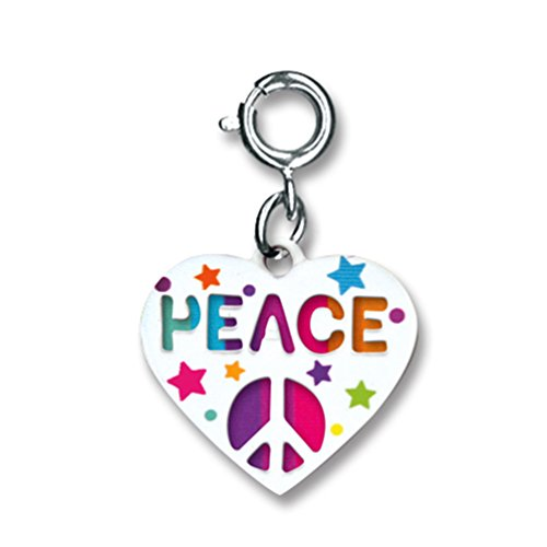(CHARM IT! Peace Swivel Heart Charm)
