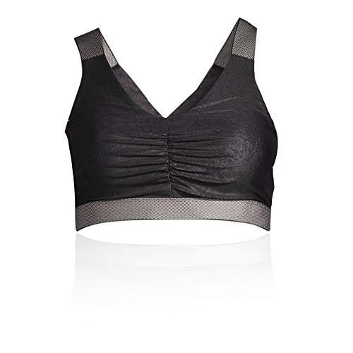Casall Sportiva Black Women's Ss19 Leatherlike Glam Reggiseno rp6nOqwrI
