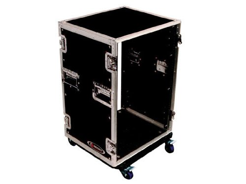 Odyssey FZGSDJ19W Flight Zone Glide Style Ata Dj Coffin With Wheels For A 19 Mixer & Two Turntables In Standard ()