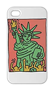 Keith Haring Statue Of Liberty Iphone 5-5s plastic case