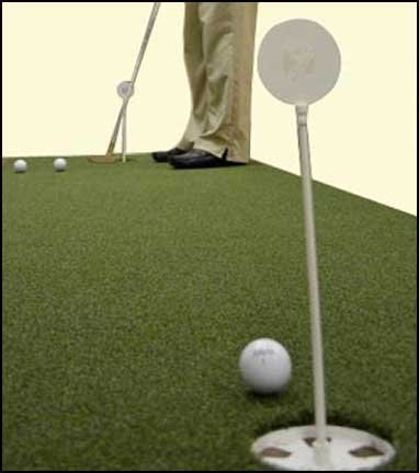 "3' x 8' True Roll Bent Grass 2 Cup Putting Green Training DVD & Impact Decals. Putting Greens with the ""True Feel of Bent Grass"". Practice & Improve Your Golf Score Read Description Below. by True (Image #2)"
