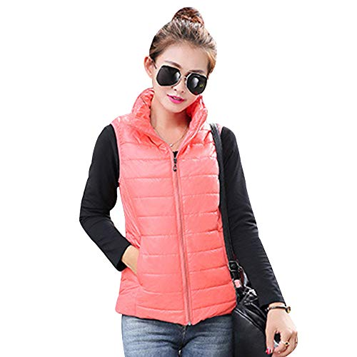 Gilet Up Red Warmers Jacket Zip Jacket Down Watermelon Vest Coat Stand Sleeveless Womens Body KINDOYO Collar Vest XwFfEE