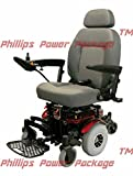 "Shoprider - XLR Plus - Midwheel Drive Power Chair - 19""W x 18""D -Red - PHILLIPS POWER PACKAGE TM - TO $500 VALUE"