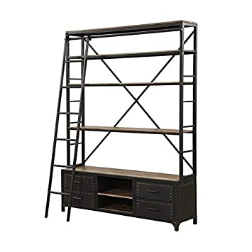 Acme Actaki Sandy Gray Bookshelf Ladder