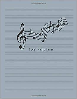 Amazon com: Sheet Music Paper: Music Manuscript Staff Paper