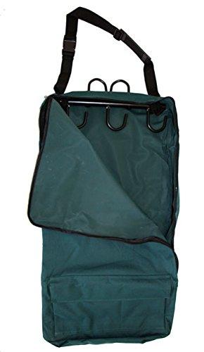 Deluxe Bridle Halter Tote Bag Carrier Tack Racks 600D Hunter Green Multi Pockets
