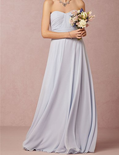 Floor Chiffon Bridesmaid Gowns Cdress Long Sweetheart Length Dresses Wedding Turquoise Party YIRdf