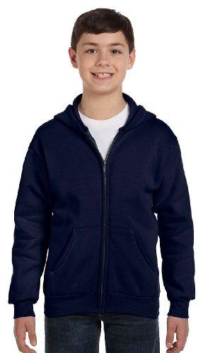 Hanes 7.8 oz Youth COMFORTBLEND EcoSmart Fleece Full-Zip ()