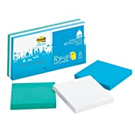Post-it Super Sticky Pop-up Notes, Colors of the World Collection, 3 in x 3 in, Mykonos (R330-6SSMK)