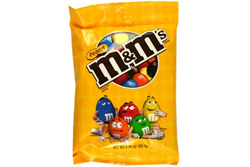 M&M Peanut 12 - 5.3oz Bags by Unknown
