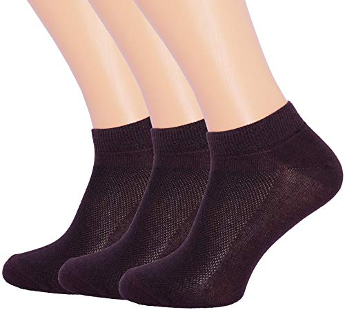 3 Pack Unisex Ultra Thin Breathable Dry Fit Low Cut Running Ankle Socks color Brown, Shoe Sizes 6-12 US/Socks Sizes 10-13 ()