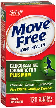 Move Free Advanced Glucosamine Chondroitin MSM and Hyaluronic Acid Joint Supplement, 120 ct