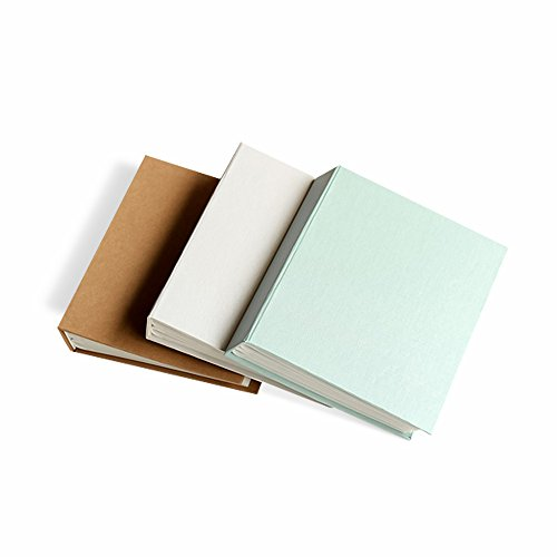 Zhi Jin Classic Paper Photo Album Slip In Hold 112 Pockets 6x4 Inch Picture Birthday Anniversary Albums Memory Book Gift, Mint Green