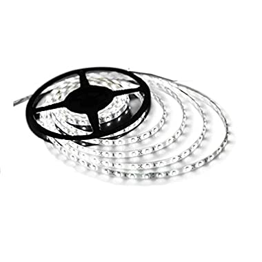 Triangle Bulbs Cool White LED Waterproof Flexible Strip Light, T93007-1 (1 pack) - 25 watt, 300  3528 SMD , 12 volt, 16.4 feet, Pure White - 1 PACK