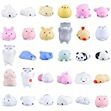 Oziral Mochi Squishys Toys Random 30 Pcs Cute Animal Mini Squishys Toys Kawaii Mini Soft Squeeze Toy Stress Relief Toys for Birthday Gifts for Kids Party Favors Adults Stress Relief Toys Seal Rabbit Cat Pig Tiger Sheep Panda