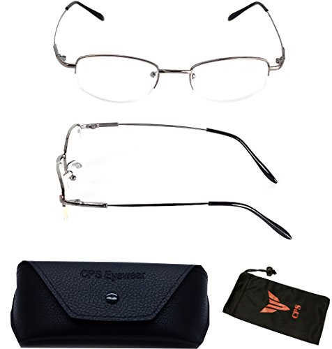 1 Pair Nearsighted Myopia Lens Oval Shape Metal Wired Optical Frameless Lightweight Glasses (Strength: - See Eyewear Return Policy
