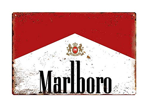 WholesaleSarong Marlboro Collectible Tobacco Cigarettes Metal Sign Outdoor Metal Wall Art Metal Poster Wall Decor