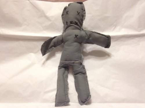 Poppets, GRAY, Hand-made by Witches in accordance to the color and the moon phase. (Poppet Doll)