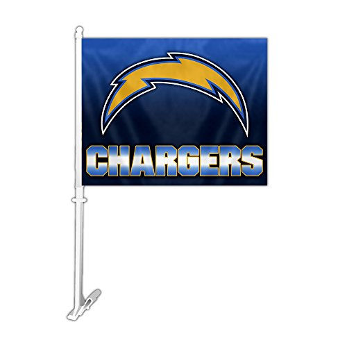 Nfl Team Car Flags - Fremont Die NFL Los Angeles Chargers Ombre Style Car Flag