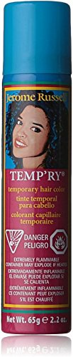 Jerome Russell Temporary Hair Color Spray, Blue 2.2 oz (Pack of 12)
